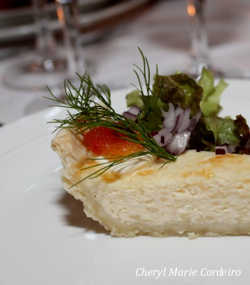 4 Cheese quiche for starter