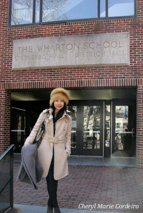 Cheryl Marie Cordeiro Nilsson at the Wharton School at the University of Pennsylvania, USA.