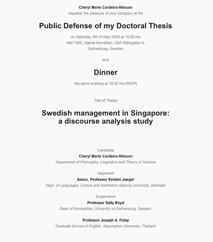 defend my phd thesis