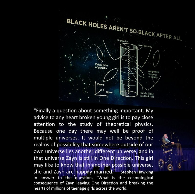 Cheryl Marie Cordeiro Stephen Hawking multiple universes