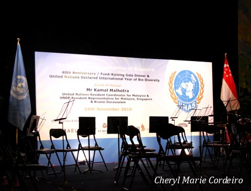 United Nations Association of Singapore (UNAS) – Celebrating its 40th Anniversary Gala Dinner, Singapore 2010