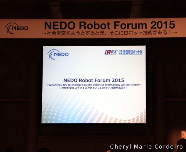 NEDO Robot Forum 2015, Tokyo