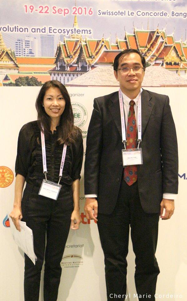 Cheryl Marie Cordeiro, Chai Kah Hin, ICMIT 2016 conference, Bangkok, Thailand.